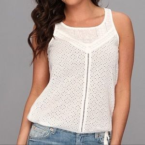 Lucky Brand Alameda Eyelet Tank Size Small